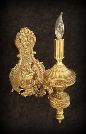 Ornate Brass Sconce